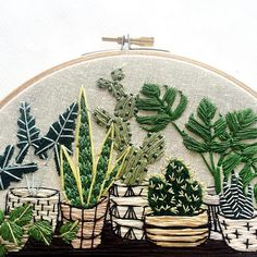 This guy is heading off to a happy new home today! Don't miss your chance to win a little something for yourself (or a friend). See details in my previous post. Cactus Embroidery, Creative Embroidery, Diy Embroidery, Cross Stitch Embroidery, Contemporary Embroidery, Modern Embroidery, Hand Embroidery Patterns, Embroidery Designs, Bordado Popular