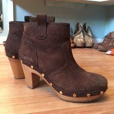 #ToryBurch suede #booties platform #ankleboots.