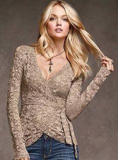 Resultado de imagen para blusas elegantes 2014 de encaje