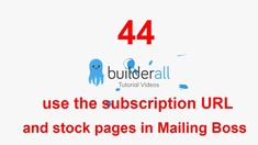 Builderall Tutorial 44 - How to use the subscription URL and stock pages in Mailing Boss Mail Boss, Make Money Online, How To Make Money, Being Used, Online Business, Digital Marketing, Platform, Success, Tutorials