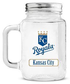 Kansas City Royals Mason Jar Glass With Lid