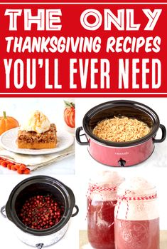 Thanksgiving Recipes - Side Dishes, Appetziers & Desserts the whole family will LOVE! These easy recipes have BIG flavor, few ingredients, and will make your holiday a breeze! Go grab the recipes and give some a try this year! Side Dish Recipes, Easy Dinner Recipes, Fall Recipes, Side Dishes, Easy Meals, Yummy Appetizers, Yummy Snacks, Appetizer Recipes, Slow Cooker Recipes