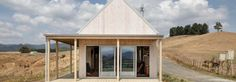 Prefab home was assembled onsite in New Zealand in just 4 days Indoor Outdoor Living, Outdoor Rooms, Prefab Buildings, Timber Cabin, California Bungalow, New Zealand Houses, Prefab Homes, Modular Homes, Ventilation System