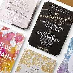 Laser cut, foil-stamped, pearl shimmer… decisions, decisions. Let us help you find the perfect invitation style with our new free sample kit.