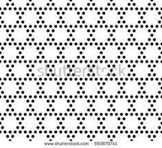 Vector monochrome seamless pattern. Simple geometric texture with small hexagons. Black and white illustration, hexagonal grid. Repeat abstract geometrical background. Light design for decor, textile