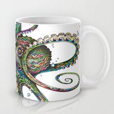 """Octopsychedelia"" Mug by TAOJB on Society6."