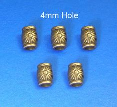 4x 4mm Hole Dreadlock Beads Beard Ring Hair Viking Bead Sets Jewelry Accessories