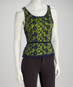 Take a look at this Navy Crochet Love Lace Top by Knitted Dove on #zulily today! $39.99, regualr 95.00