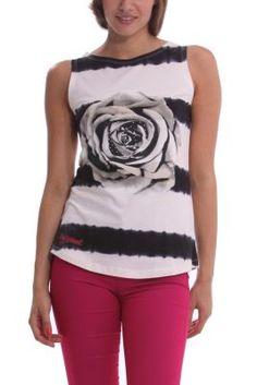 WOMAN KNITTED T-SHIRT STRAPS