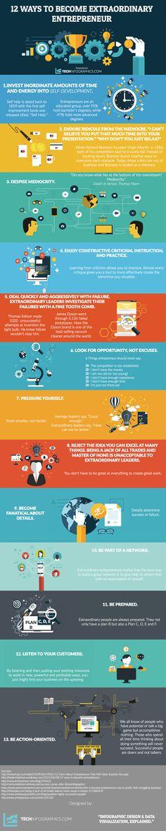 12 ways to become an extraordinary entrepreneur... www.MyCreativeCatalyst.com