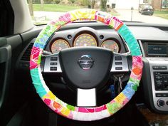 Scrap Lilly Pultizer Steering Wheel Cover