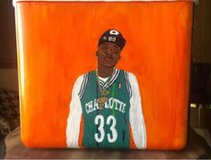 COOLERSbyU Painted Cooler Examples | Portait Cooler | Tags: music, portrait, painted, custom cooler Painted Coolers, Fraternity Coolers, Cooler Painting, Painting Inspiration, Tags, Portrait, Headshot Photography, Portrait Paintings, Drawings