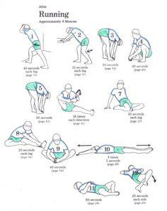 post-run stretches - tried this sequence after my run this morning and it felt great!