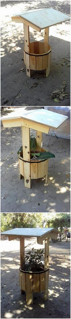 To add some beauty impacts in your house garden areas, you can consider adding on with the planter in the taste of wishing well start away in it. This wishing well planter has been adjusted complete with the wood pallet effect that is durable set with the custom designing work.