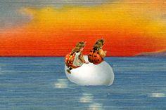 They found themselves far from home adrift on an egg. Short Stories, 21st Century, Egg, Novels, Eggs, Egg As Food, Fiction, Romans