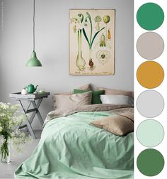 IKEA Green Mustard Grey Bedroom Color Palette                                                                                                                                                      More