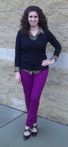 purple jeans & leopard print