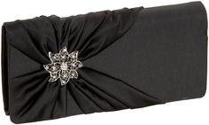 Price: $38.00 | La Regale 24616 #Clutch | Color: Black | Satin, Made in China,