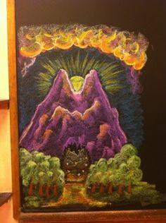 Waldorf ~ 1st grade ~ Letter: M ~ chalkboard drawing