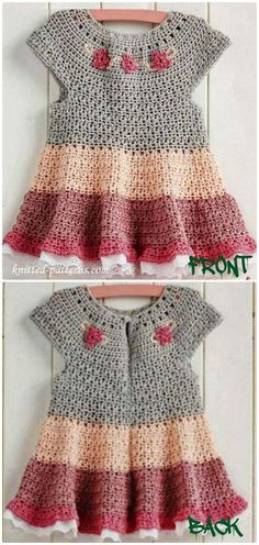 Crochet Tiered dress Free Pattern - Crochet Girls Dress Free Patterns