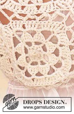 DROPS Bolero crochet in Eskimo ~ DROPS Design