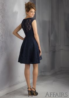 Short Bridesmaids Dress From Affairs By Mori Lee Dress Style 31041 Lace Bridesmaid Dress