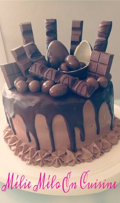 Ideas Cake Recipes Chocolate Coconut For 2019 Nutella Cake, Chocolate Cheesecake, Chocolate Recipes, Cake Chocolate, Two Layer Cakes, Chocolate Macadamia Nuts, Plum Cake, Salty Cake, Best Cake Recipes