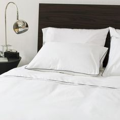 Great site for designer bedding | The Hayes Nova Soft White Duvet Set @craneandcanopy
