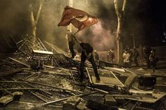 #occupygezi An iconic picture taken earlier today in Ankara.