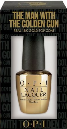 Possibly the most exciting launch of the year .... OPI James Bond Man With The Golden Gun nail polish top coat. I definitely want to try this!