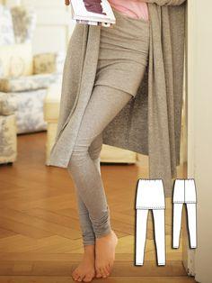 Leggings with Skirt 01/2011 #130A http://www.burdastyle.com/pattern_store/patterns/leggings-with-skirt-012011?utm_source=burdastyle.com&utm_medium=referral&utm_campaign=bs-tta-bl-160401-LazyDayCollection130A