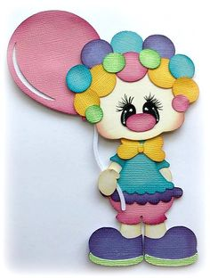 BIRTHDAY GIRL WITH  BALLOON PREMADE PAPER PIECING 3D DIE CUT MY TEAR BEARS KIRA  #MYTEARBEARS