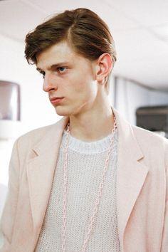 Walter Van Beirendonck AW 2015 - Pink Pastel Blazer Chain Jumper