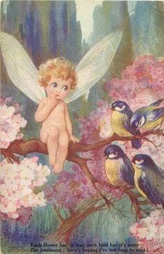 "Bluebird fairy ✮✮""Feel free to share on Pinterest"" ♥ღ www.fairytales4kids.com"