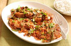 Chuletas de cerdo con salsa picante receta