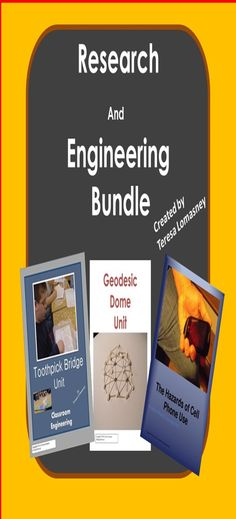 Gifted Education Research & Engineering {Bundle}  Three of my best selling gifted education lesson plans bundled into one package!  Toothpick Bridge Unit; Geodesic Dome Unit; and The Hazards of Cell Phone Use Unit  RI.6.1, RI.6.2, RI.6.3, W.6.2a, W.6.2b 6.G.A.1, 6.G.A.4, W.6.7  $7.50