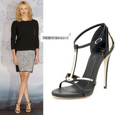 Charlize Theron in Giuseppe Zanotti shielded strappy sandals [CELE15001] - $224.00 : Discounted Christian Louboutin,Jimmy Choo,Valentino Shoes Online store