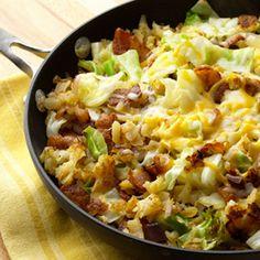 Southwest Potato Cabbage Skillet Dinner