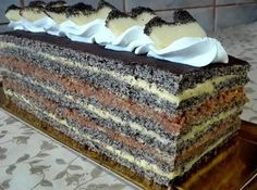 Hungarian Desserts, Tiramisu, Food And Drink, Ethnic Recipes, Poppy, Sheet Cakes, Essen, Tiramisu Cake, Poppies