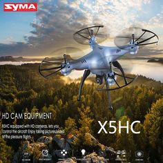 69.00$  Buy now - http://aliua3.worldwells.pw/go.php?t=32789484069 - SYMA X5HW X5HC 6Axis 4CH RC Quadcopter Drone with HD Camera Upgraded Drone Syma X5SW WIFI Real Time Toy 69.00$