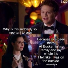 Bay is the most relatable character on Switched at Birth next to Daphne. I'm glad that she went to Carlton. <3