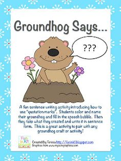 Groundhog Says... - Pinned by @PediaStaff – Please Visit  ht.ly/63sNt for all our pediatric therapy pins