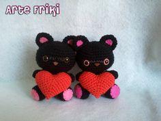 Amigurumi Gato Negro : Gato negro amigurumi black cat crochet ganchillo peluche blog arte