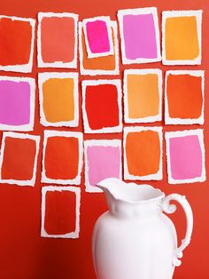from 79 ideas.org  photograph by Polly Wreford  Orange, Magenta, Purple and Red ♥