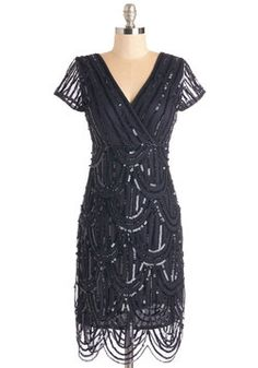 Special Occasion - Cascading Cava Dress in Midnight