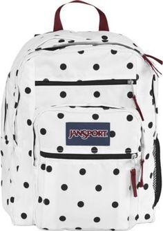 JanSport Big Student Backpack White / Black Gracie Dot - via eBags.com!
