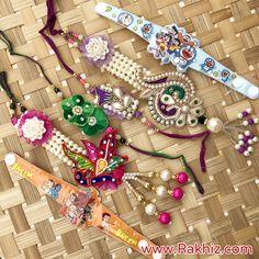 Satka Lumba Set With Brothers & Kids Rakhi Send Rakhi To India, Buy Rakhi Online, Rakhi Design, Gift Wrapper, Online Gifts, Fabric Flowers, Lace, Unique, Kids