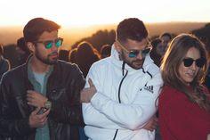 ArticIce - Gafas de sol unisex, fabricadas a mano, con montura mixta de frontal en acetato de celulosa y patillas de madera de Bambú. Lentes GOLD MIRROR con protección UV400. Precio: 24.99 euros. #ArticIce