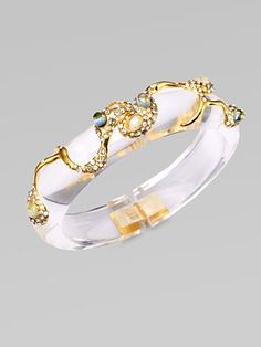 Lucite Bangle with Swarvoski accents by Alexis Bittar