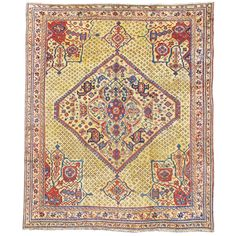 Turkish Oushak Carpet | From a unique collection of antique and modern turkish rugs at https://www.1stdibs.com/furniture/rugs-carpets/turkish-rugs/